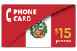 $20.0000 PINZOO Power Peru Phone Cards