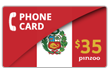 $40.0000 PINZOO Power Peru Phone Cards