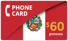 $60.00 Power Peru Phone Card