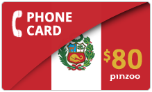 $80.00 Power Peru Phone Card