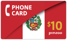 $10.00 Power Peru Phone Card