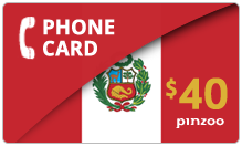 $40.00 Power Peru Phone Card