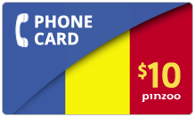 $10.00 Power Romania Phone Card