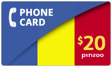 $20.00 Power Romania Phone Card