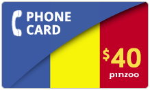 $40.00 Power Romania Phone Card