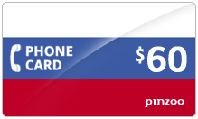 $60.00 Power Russia Phone Card