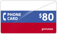 $80.00 Power Russia Phone Card