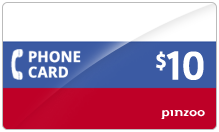 $10.00 Power Russia Phone Card