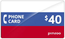 $40.00 Power Russia Phone Card