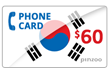 $60.0000 PINZOO Power South Korea Phone Cards