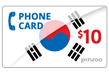 $10.0000 PINZOO Power South Korea Phone Cards