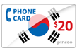 $20.0000 PINZOO Power South Korea Phone Cards