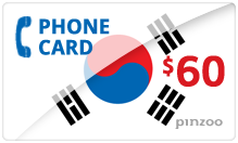 $60.00 Power South Korea Phone Card