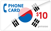 $10.00 Power South Korea Phone Card