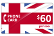 $60.0000 PINZOO Power U.K. Phone Cards