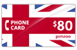 $80.0000 PINZOO Power U.K. Phone Cards