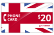 $20.0000 PINZOO Power U.K. Phone Cards