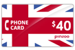 $40.0000 PINZOO Power U.K. Phone Cards