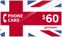 $60.00 Power UK Phone Card