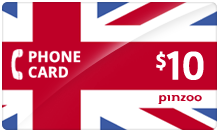 $10.00 Power UK Phone Card