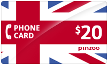 $20.00 Power UK Phone Card