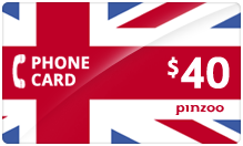 $40.00 Power UK Phone Card