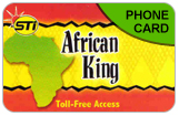 STI African King International & Domestic Phone Calling Cards