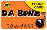 STI Da Bomb International & Domestic Phone Calling Cards