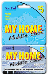 SoCal My Home Middle East International & Domestic Phone Cards & Calling Cards