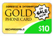 $10.00 PINZOO Gold Phone Card