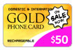 $50.00 PINZOO Gold Phone Card