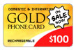 $100.00 PINZOO Gold Phone Card
