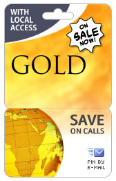 Spain PINZOO Gold Phone Cards