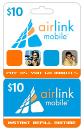 Buy the $10.00 Airlink Mobile Refill Minutes Instant Prepaid Airtime | On SALE for Only $9.95