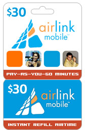 Buy the $30.00 Airlink Mobile<sup>&reg;</sup> Refill Minutes Instant Prepaid Airtime | On SALE for Only $29.69