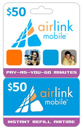 Buy the $50.00 Airlink Mobile® Refill Minutes Instant Prepaid Airtime | On SALE for Only $49.49