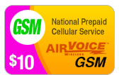 Buy the $10.00 Airvoice GSM Refill Minutes Instant Prepaid Airtime | On SALE for Only $9.95