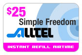 Buy the $25.00 Alltel Wireless Refill Minutes Instant Prepaid Airtime | On SALE for Only $24.69