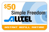 Buy the $50.00 Alltel Wireless Refill Minutes Instant Prepaid Airtime | On SALE for Only $49.29