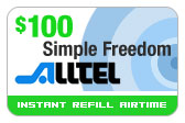 Buy the $100.00 Alltel Wireless Refill Minutes Instant Prepaid Airtime | On SALE for Only $98.39