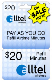 Buy the $20.00 Alltel U Refill Minutes Instant Prepaid Airtime | On SALE for Only $19.95