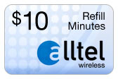Buy the $10.00 Alltel Wireless Refill Minutes Instant Prepaid Airtime | On SALE for Only $9.99