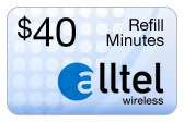 Buy the $40.00 Alltel Wireless Refill Minutes Instant Prepaid Airtime | On SALE for Only $39.79