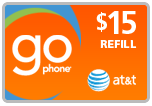 Buy the $15.00 AT&T Go Refill Minutes Instant Prepaid Airtime | On SALE for Only $14.69