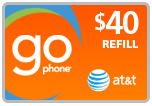 Buy the $40.00 AT&T Go Phone PIN Refill Minutes Instant Prepaid Airtime | On SALE for Only $39.19