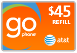 Buy the $45.00 AT&T Go Phone PIN Refill Minutes Instant Prepaid Airtime | On SALE for Only $43.99