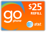 Buy the $25.00 AT&amp;T Go Phone<sup>&reg;</sup> Refill Minutes Instant Prepaid Airtime | On SALE for Only $24.49