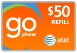 Buy the $50.00 AT&T Go Phone PIN Refill Minutes Instant Prepaid Airtime | On SALE for Only $48.99