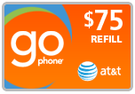 Buy the $75.00 AT&amp;T Go Phone<sup>&reg;</sup> Refill Minutes Instant Prepaid Airtime | On SALE for Only $72.99