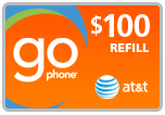 Buy the $100.00 AT&T Go Phone PIN Refill Minutes Instant Prepaid Airtime | On SALE for Only $96.99